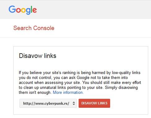 Negative SEO Disavow Google