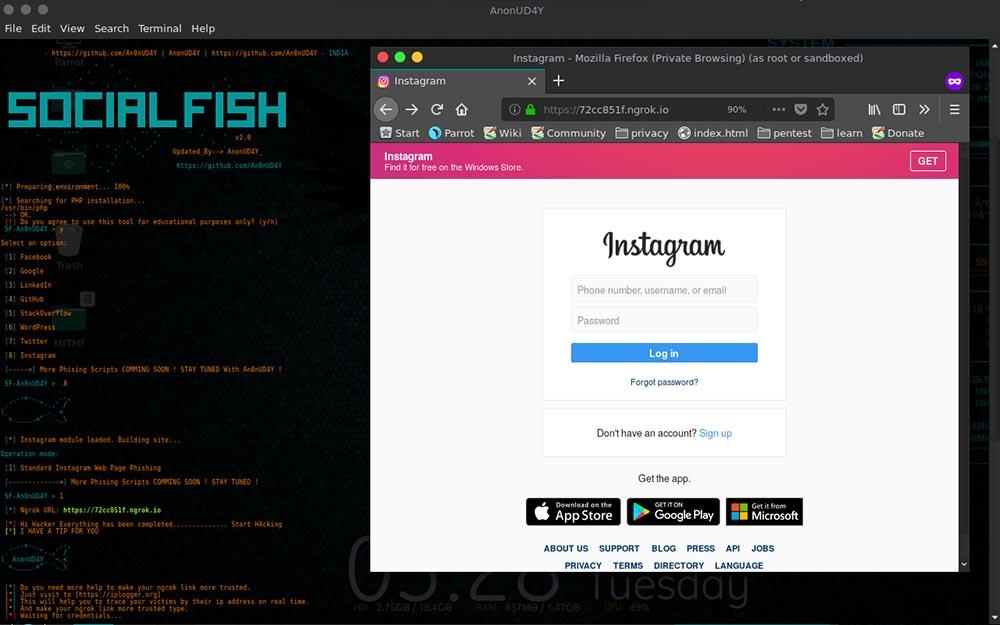 SocialFish: Ultimate Phishing Tool