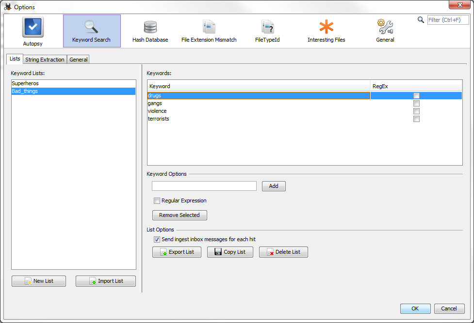 Digital Forensics Platform Autopsy GUI