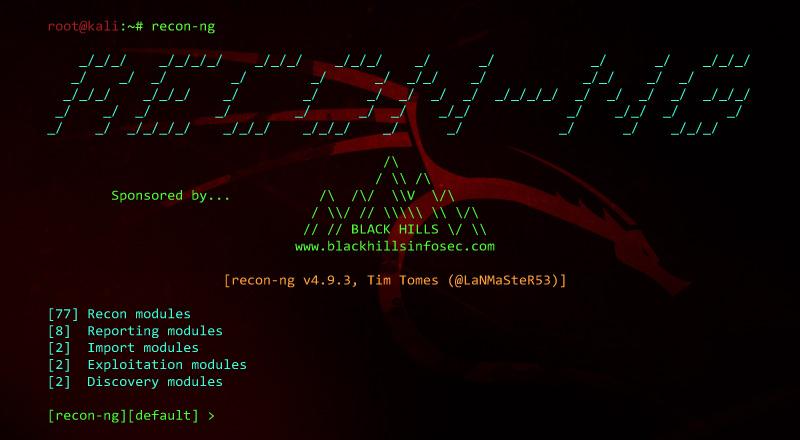 Web Reconnaissance Framework – [Recon-ng]