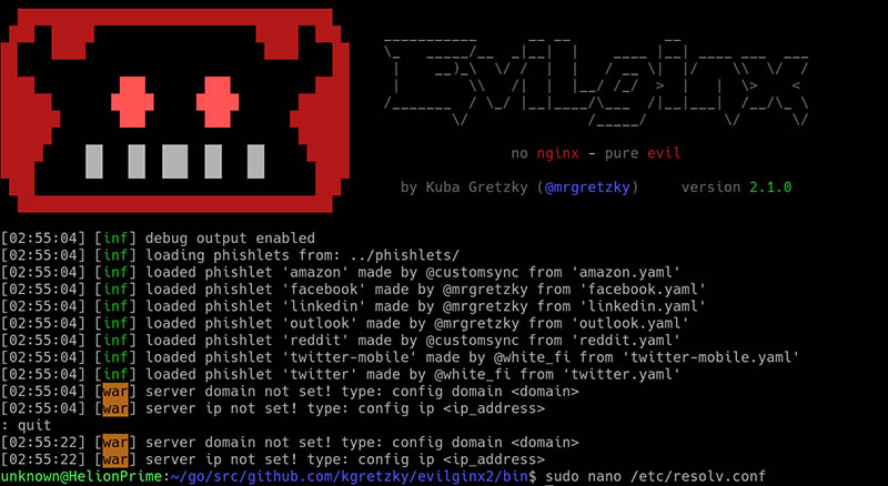 Evilginx Launch Phislets