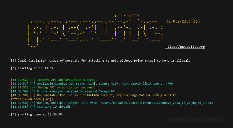 Pocsuite – Remote Vulnerability Testing Framework