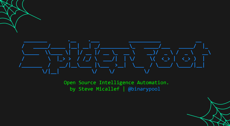 OSINT Collection and Reconnaissance Tool - SpiderFoot