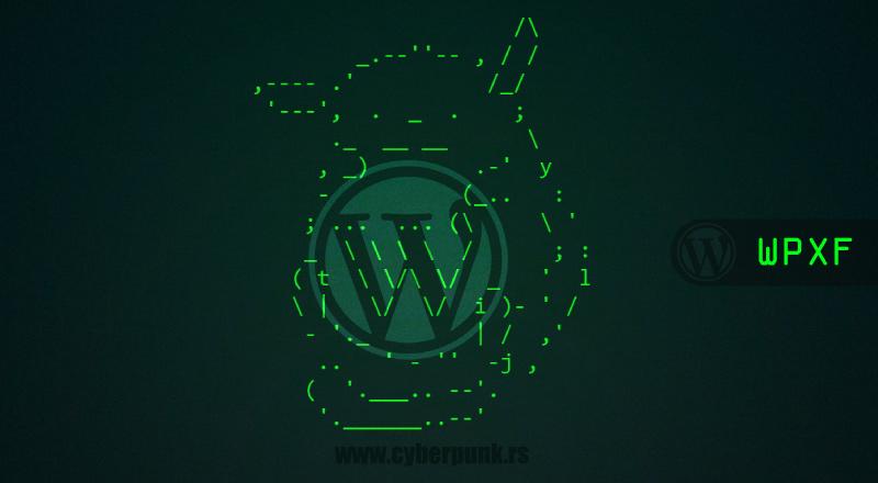 WordPress Exploit Framework [WPXF]