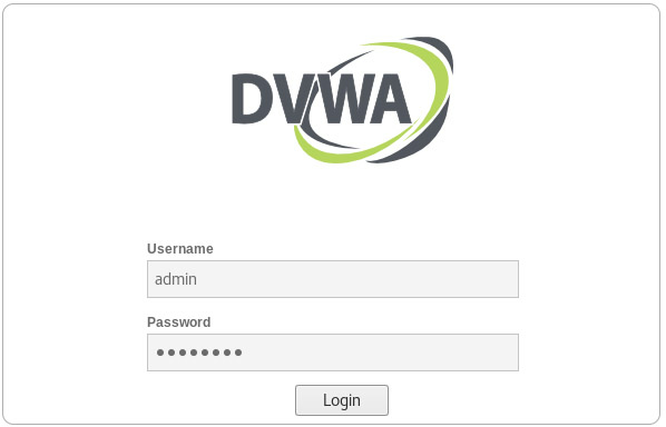 DVWA (Damn Vulnerable Web Application) Login