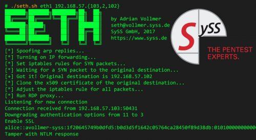 Seth: RDP MiTM Attack Tool