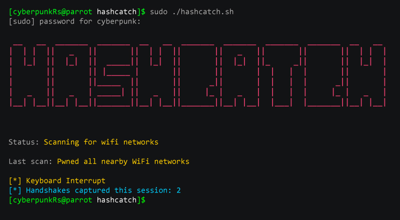 Hashcatch: Capture Handshakes of Nearby WiFi