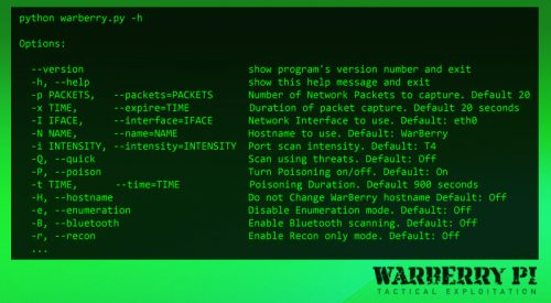 WarBerry Pi – Tactical Exploitation Tool