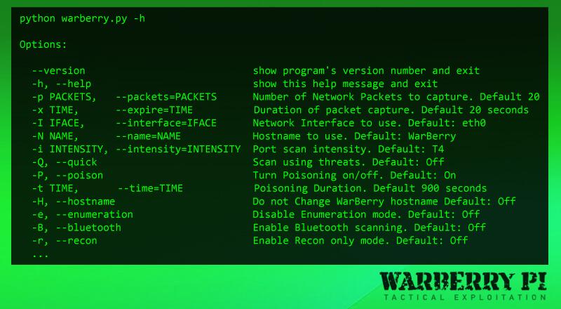 WarBerry Pi – Tactical Exploitation Tool