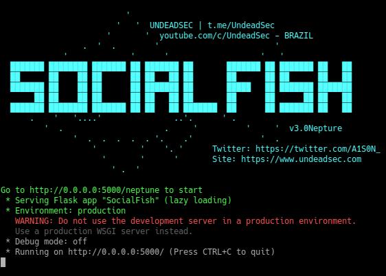 SocialFish v3.0 Neptune [UndeadSec]