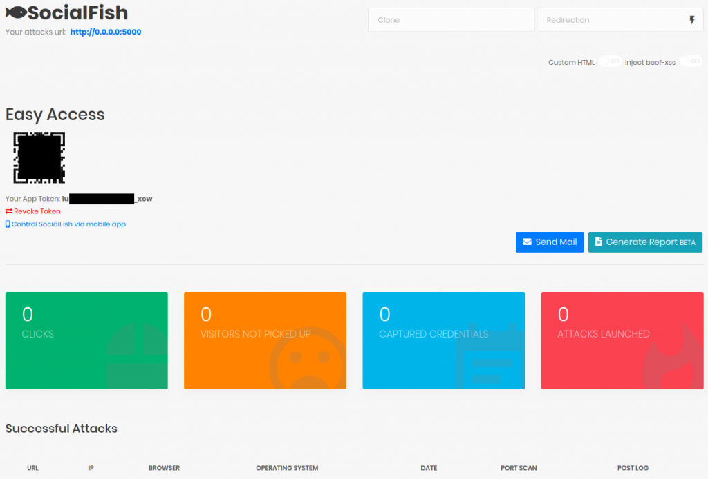 SocialFish v3 Neptune Web Interface (/creds, dashboard uppon login)