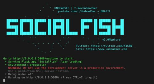 SocialFish Phishing Examples v2 & v3 [FB, Instagram, Custom]