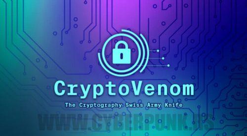 CryptoVenom: The Cryptography Swiss Army Knife