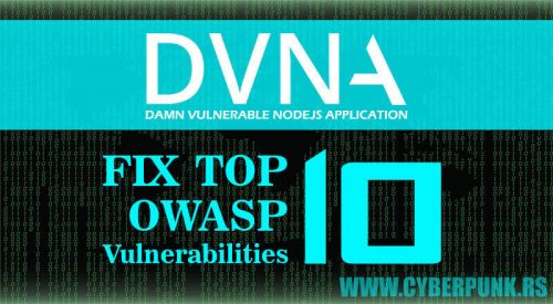 DVNA: Damn Vulnerable NodeJS Application