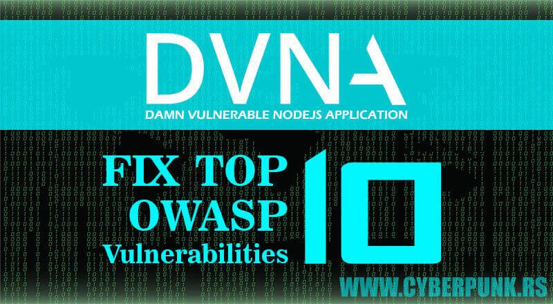 DVNA: Damn Vulnerable NodeJS Application