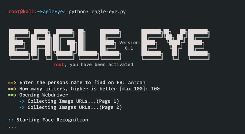 EagleEye: Image Recognition Tool [FB, YT, Instagram, Twitter]