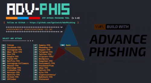 AdvPhishing: OTP Bypass Advanced Phishing Tool