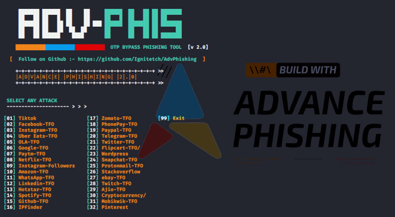 AdvPhishing: OTP Bypass Advanced Phishing Tool