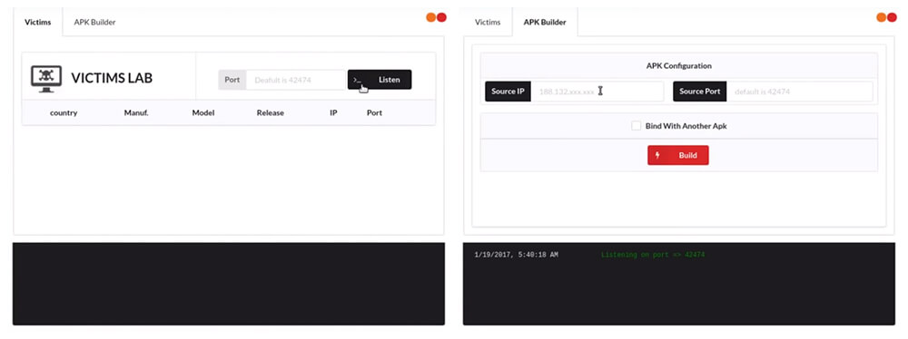 AhMyth: Android Remote Administration Tool GUI