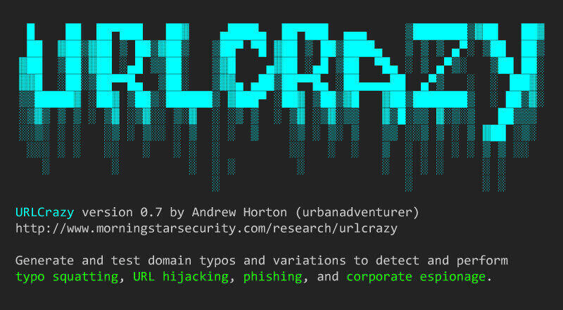 URLCrazy: Domain Variant Detector