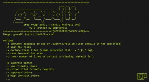 Graudit: Source Code Auditing Tool