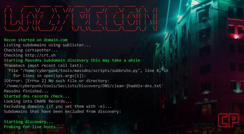 LazyRecon: Reconnaissance Process Automator