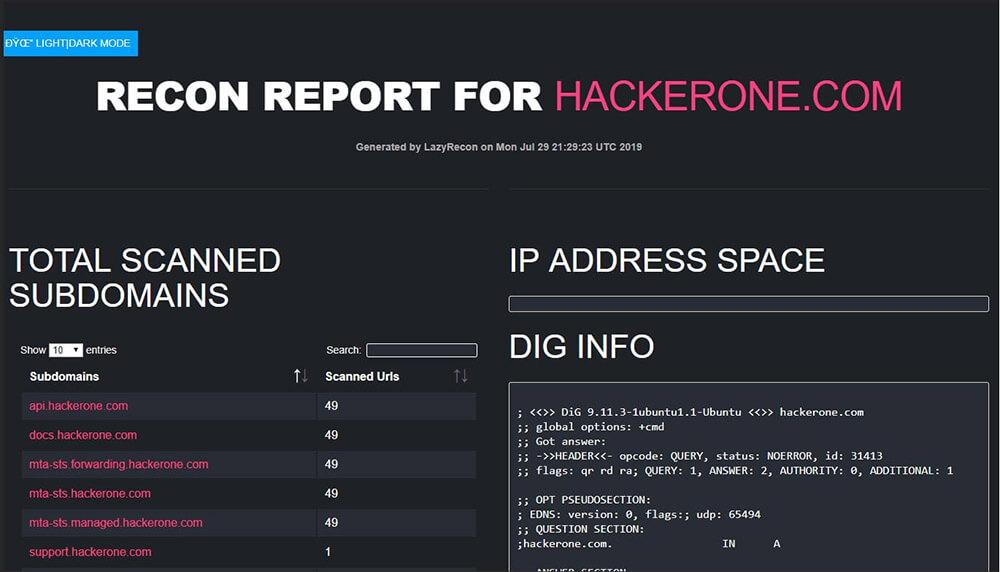 LazyRecon Report