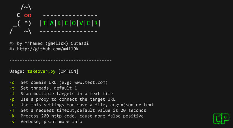 Takeover: Subdomain Takeover Vulnerability Scanner